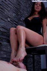 Beautiful feet of hot Russian dominatrix