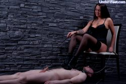 Beautiful feet of hot Russian dominatrix