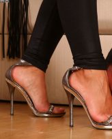Bored Russian Mistress gets some relax while her slave licks her feet