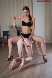 Russian mistress Irina has some dominating fun once again
