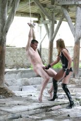 Outdoor femdom with hot Russian mistress