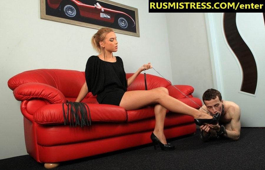 Femdom encounters - one beautiful mistress and her slave