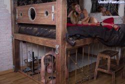 Blonde MILF dominates her slave