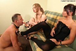 Double strapon domination with two beautiful Russian girls