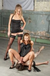 Dream of every slave   be a toilet of two beautiful Russian girls